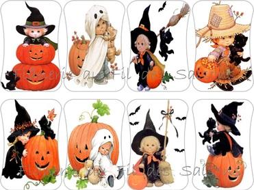 Cartonnettes Halloween Citrouilles !