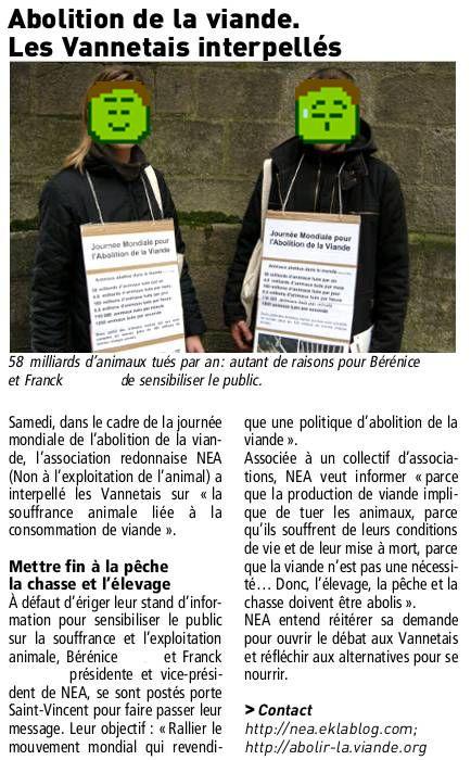 JMAV Le Télégramme Vannes 02/02/2010
