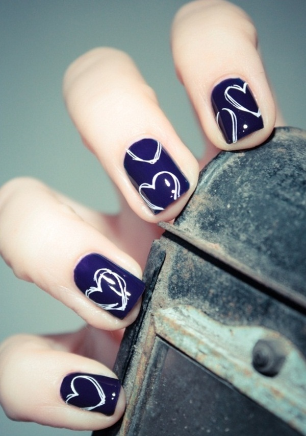 Simple Nail Art Designs for Short Nails (37)