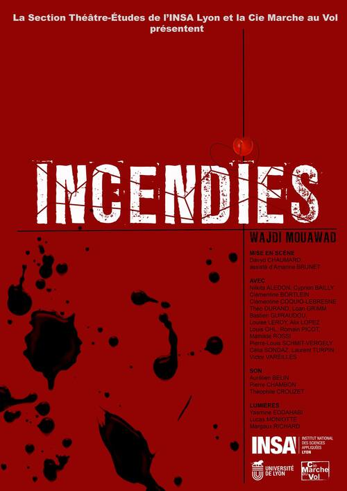4-7 Mars - Incendies - Wajdi Mouawad
