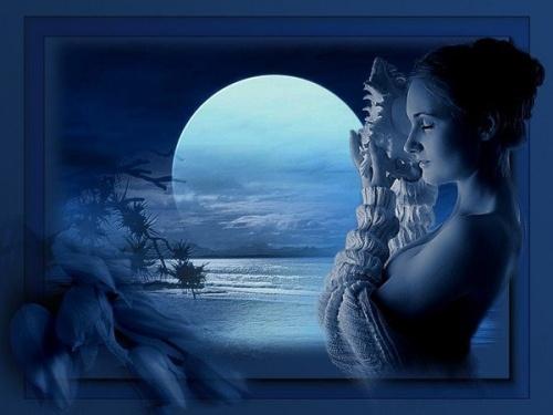 ijo de la luna - femme coquillage -mer