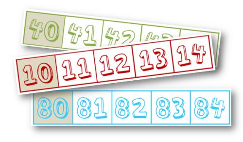 Numération - affichage dizaines et file numérique coordonnée