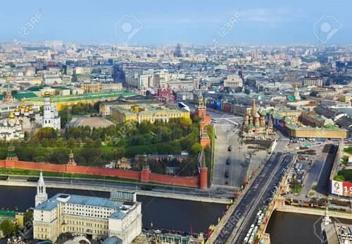 RUSSIE. Moscou en drone.  Voyages