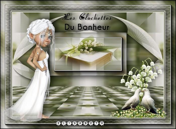 """Ma réalisation du tuto """"Les clochettes du bonheur"""" de Manany"""