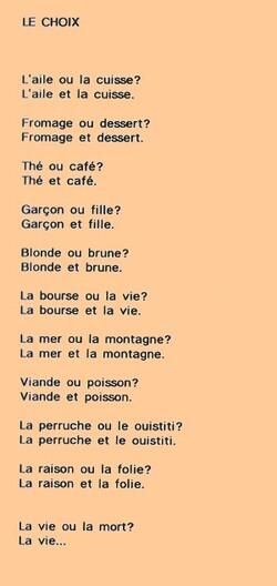 Le choix . Extrait de Petits contes savoureux Henri Jacques Gros