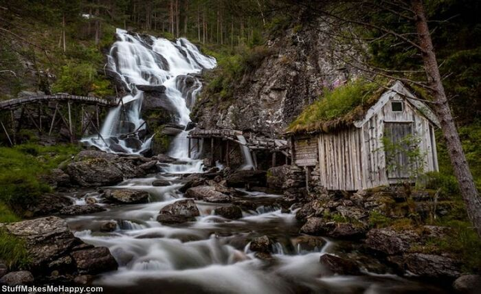 images fabuleuses de l'architecture de conte de fées de la Norvège