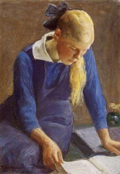 01 - Les jeunes filles à la lecture - dans la peinture