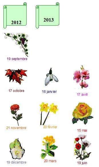 CALENDRIER 2012-2013