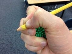 This simple tip can help students correct awkward pencil grips!
