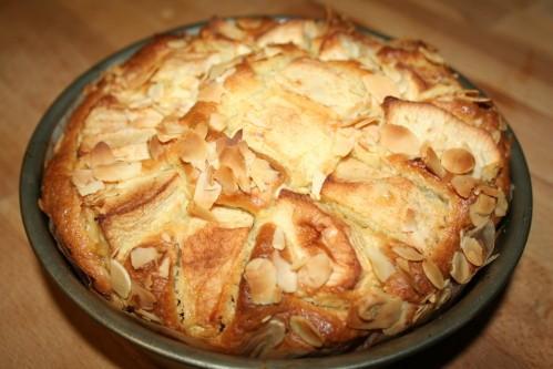 gâteau moelleux aux pommes et amandes 08 10 002