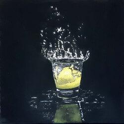 citron splash  20 x 20 cm