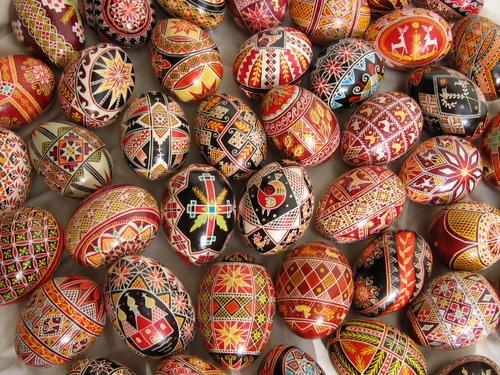 Encours et oeufs de Pâques