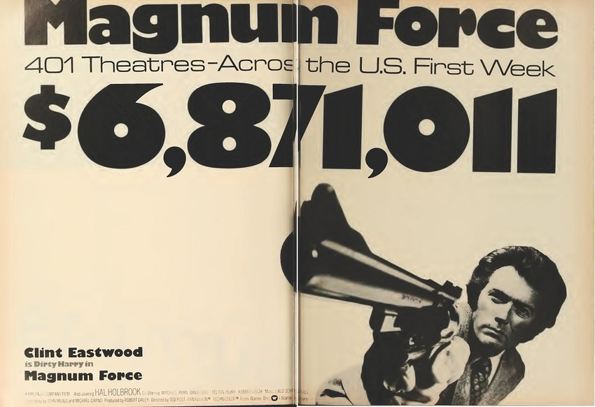 MAGNUM FORCE BOX OFFICE USA 1973