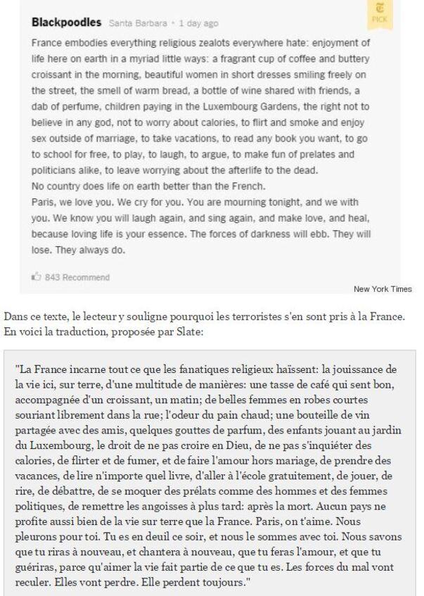 Des larmes pour Paris et pour la France-  Ajout du 16/11/2015