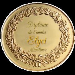 la medaille de l'amitié de mes amies Mimilinou merci