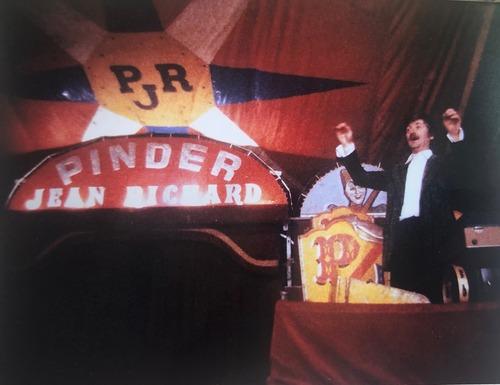 le Chef d'orcheste emblématique du cirque Pinder Jean Richard : Carmino d'Angelo (archives Jean Arnaud)