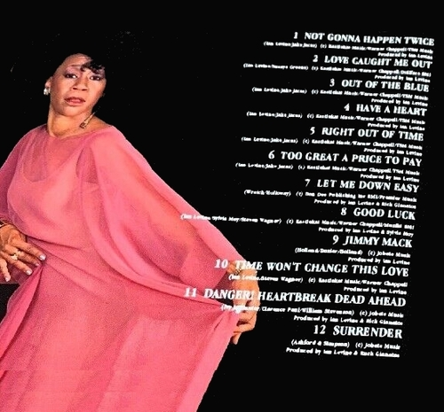 "Bettye Lavette : CD "" Not Gonna Happen Twice "" Motorcity Records MOTCCD45 [ UK ]"