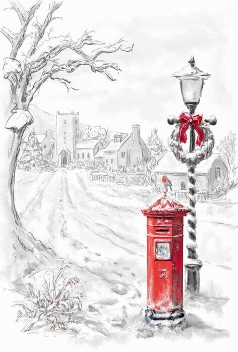 Tube pour lettre de Noël