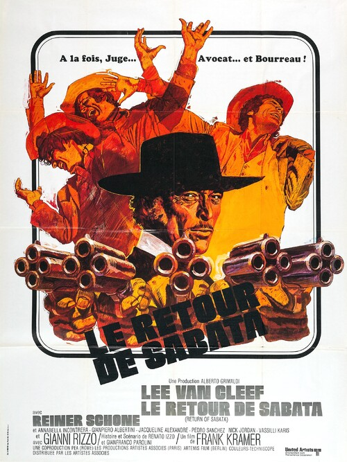LE RETOUR DE SABATA - LEE VAN CLEEF BOX OFFICE