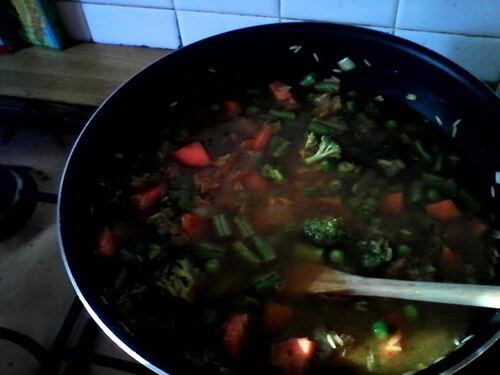 biryani de légumes...parce que j'aime les épices