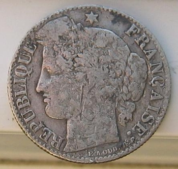 50 cts 1887 argent avers