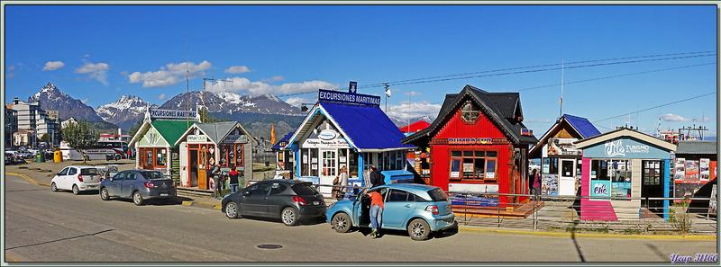 Chalets colorés des excursionnistes locaux - Ushuaïa - Terre de Feu - Argentine