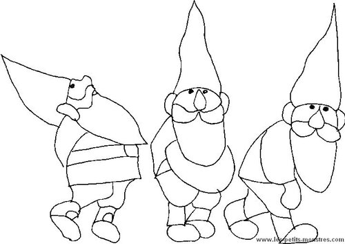 Coloriages Gnomes