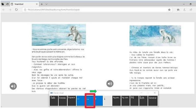 Windows : Tourner les pages d'un ebook avec un contacteur