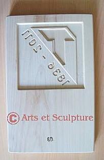 Moule à speculoos personnalisé logo d'entreprise - Arts et Sculpture: sculpteur à façon