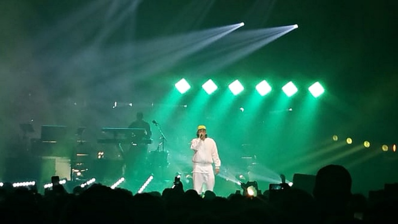 Simple, basique : on était au concert d'Orelsan à l'Arkea Arena