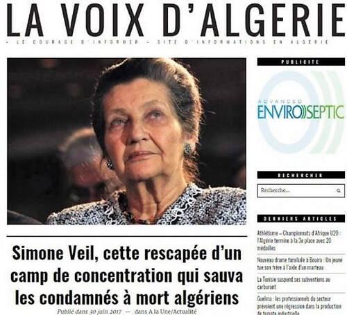 1959 quand Simone Veil sauvait -très discrètement - des fellagas