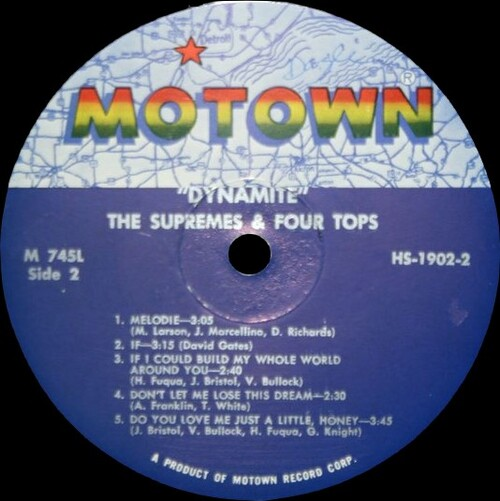 "The Supremes & The Four Tops : Album "" Dynamite "" Motown Records M 745L [ US ]"