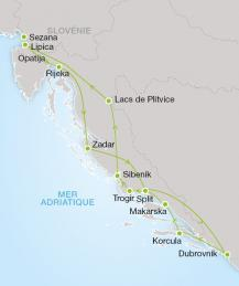 Circuit organisé en Croatie et Monténégro