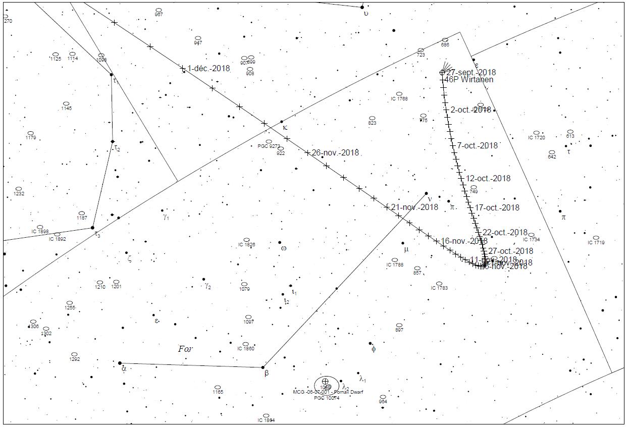 46P Wirtanen map