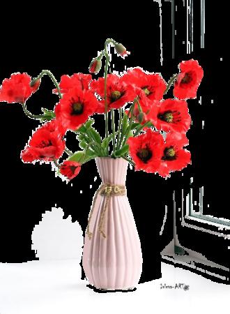 Vase Coquelicots