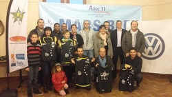 Remise de maillots à la section Runnnig
