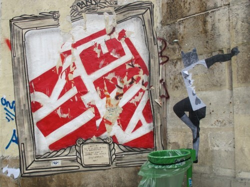 Pitr Beaubourg street-art cadre 0