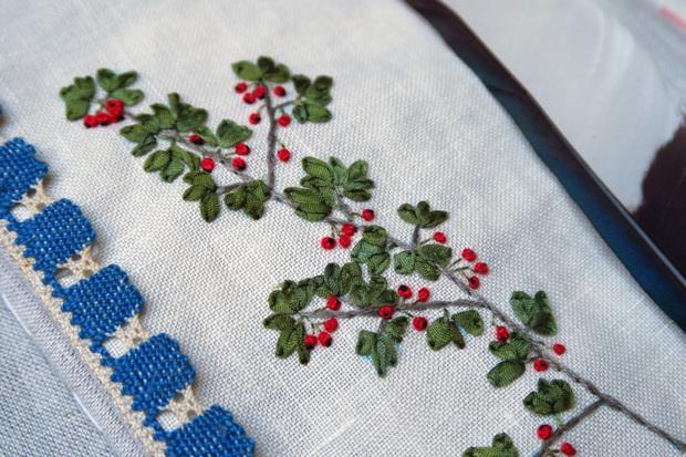 Carnet textile - Récolte sous les chênes (suite)