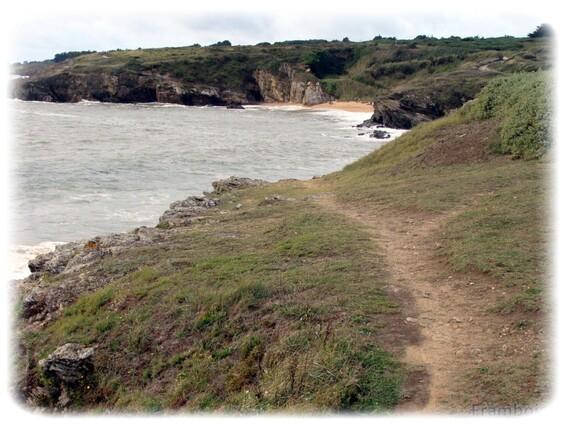 Le littoral de Portmain à L'étang à Pornic