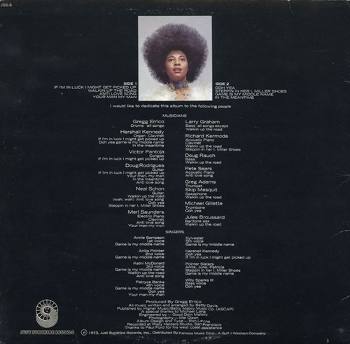 "Betty Davis : Album "" Betty Davis "" Just Sunshine Records JSS-5 [ US ]"