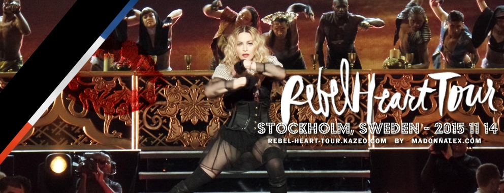Madonna Rebel Heart Tour Stockholm Deuil Pray For Paris