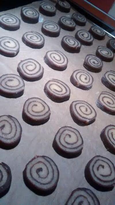 Sablés spirales bicolores