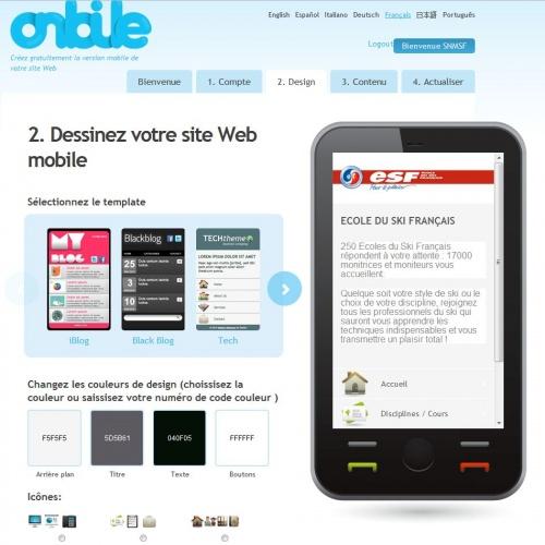 Créer son site mobile