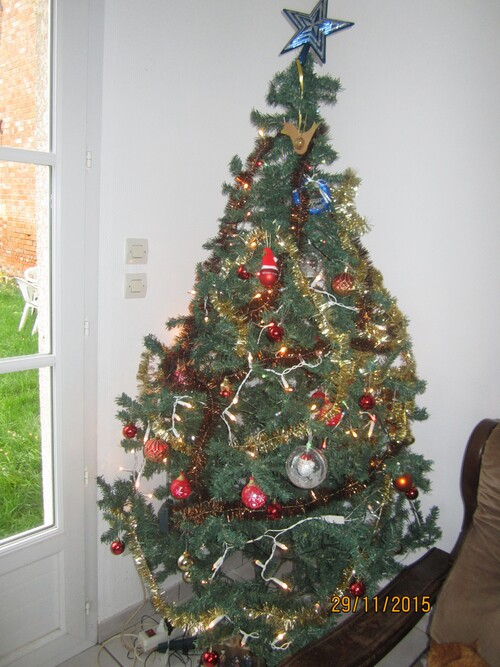 notre sapin 2015!!!!!!!!!!!!