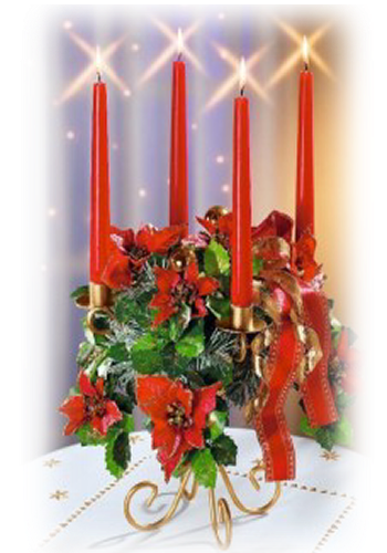 tubes noel / bougies, chandeliers
