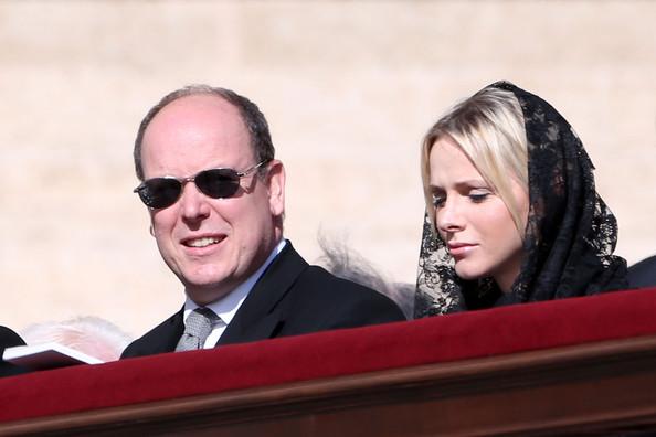 Charlène et Albert à Rome