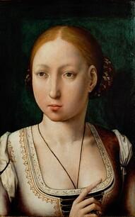 Jeanne Ire de Castille, par Jean de Flandres, musée d'histoire de l'art de Vienne.