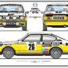 Opel Kadett GT-E Rallye Livery