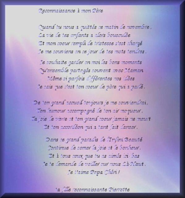 Un De Mes Poème Pour La Fête Des Pères Dimanche 21 Juin