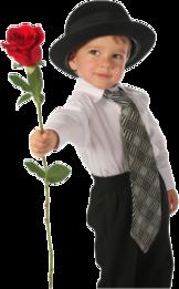 petit garçon à la rose